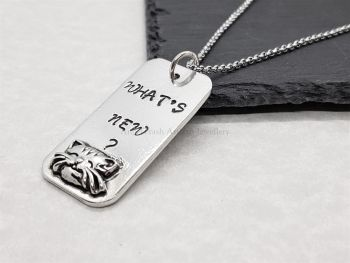 Necklace - Pewter - What's New ? Pussycat Pendant