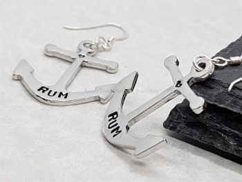 Earrings - Pewter - Anchors with Rum