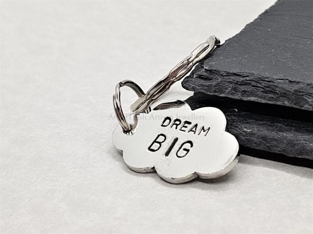 Pewter Cloud Keyring - Dream Big