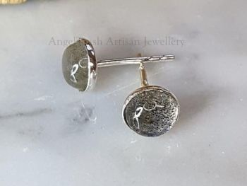 Earrings - Sterling Silver - 6mm Labradorite Gemstone Studs