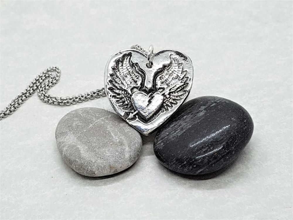 Pewter Rebel Range - Winged Heart