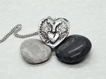 Necklace - Pewter - Winged Heart