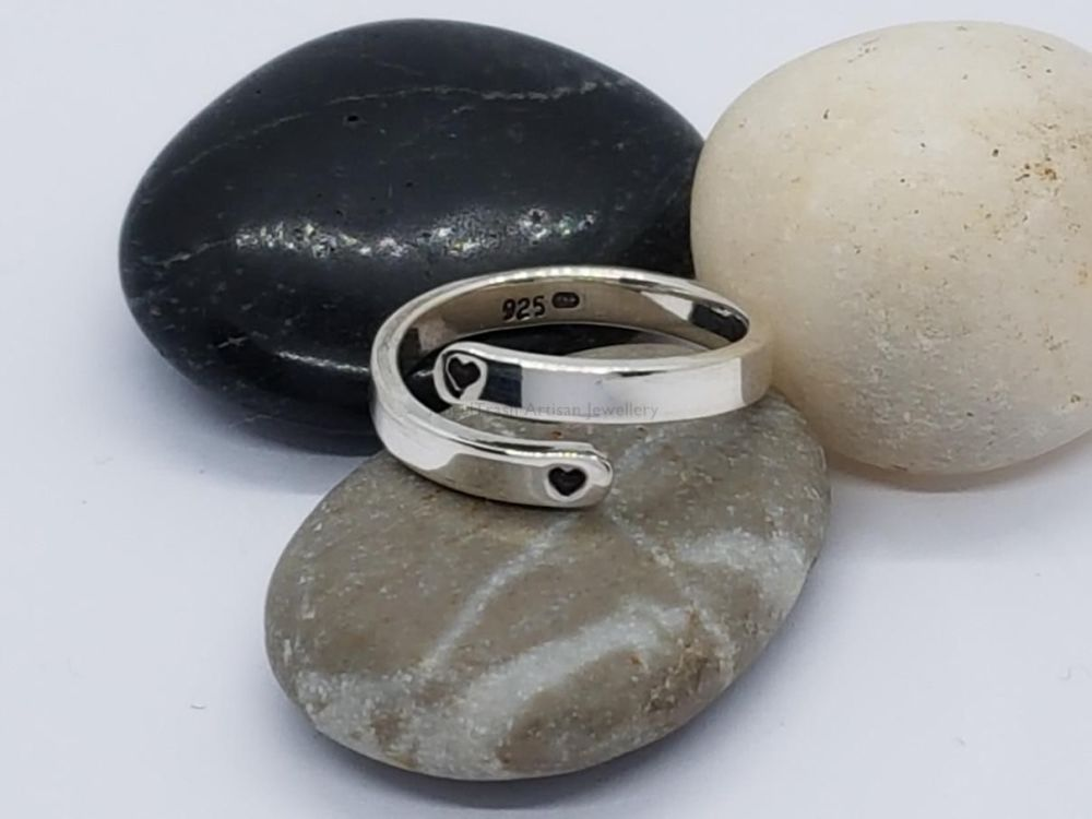 Sterling Silver Ring - Encircle Wrap Ring - I Will Love You Until The End