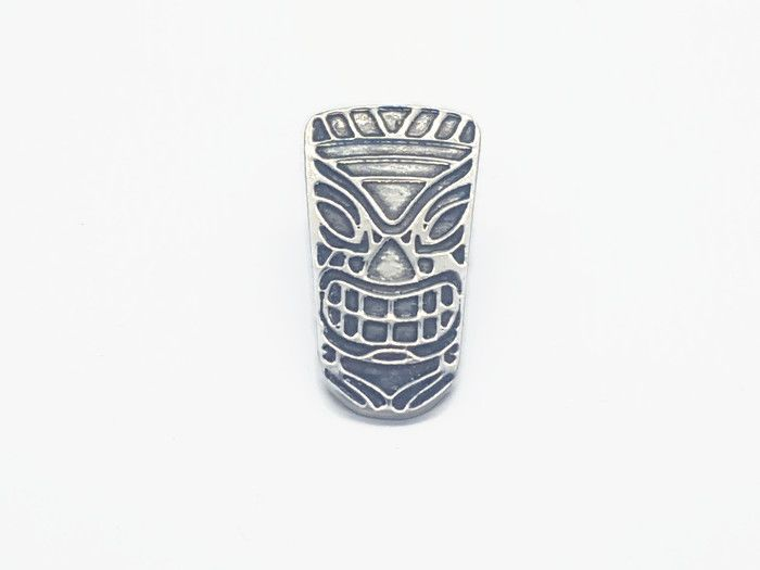 Lapel Pin - Pewter Tiki Pin Badge - Bert