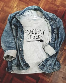 Frequent Flyer Ladies V Neck T Shirt