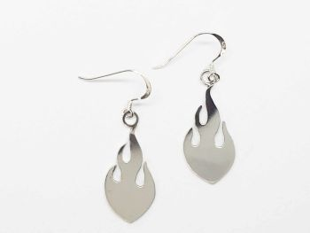 Earrings - Sterling Silver - Flame Earrings