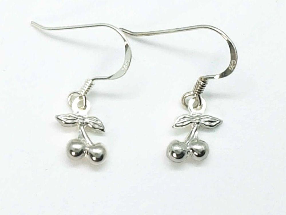 Earrings - Sterling Silver - Little Cherries