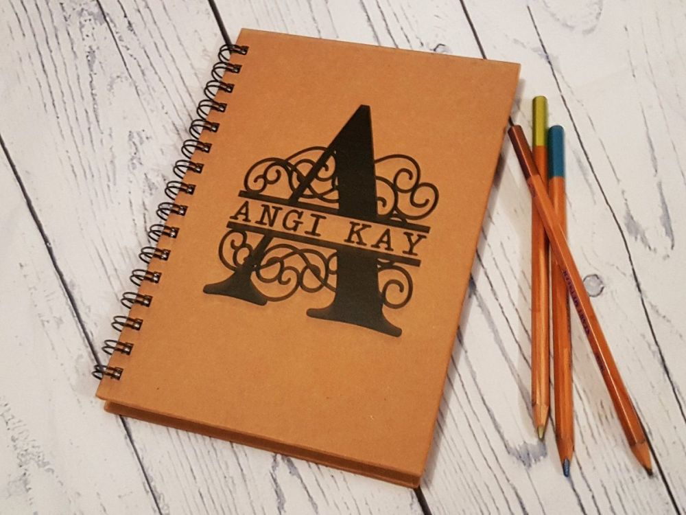 Personalised Notebook - Scroll Monogram