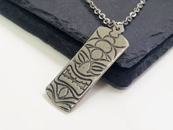 Necklace - Pewter - Tiki Head Necklace -TAMA