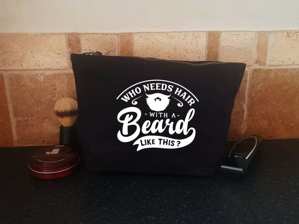 Men's Grooming Bag - Who Needs Hair
