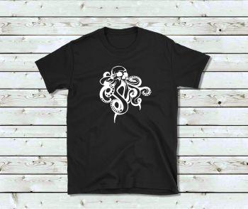 Unisex T Shirt - Octopus Skull