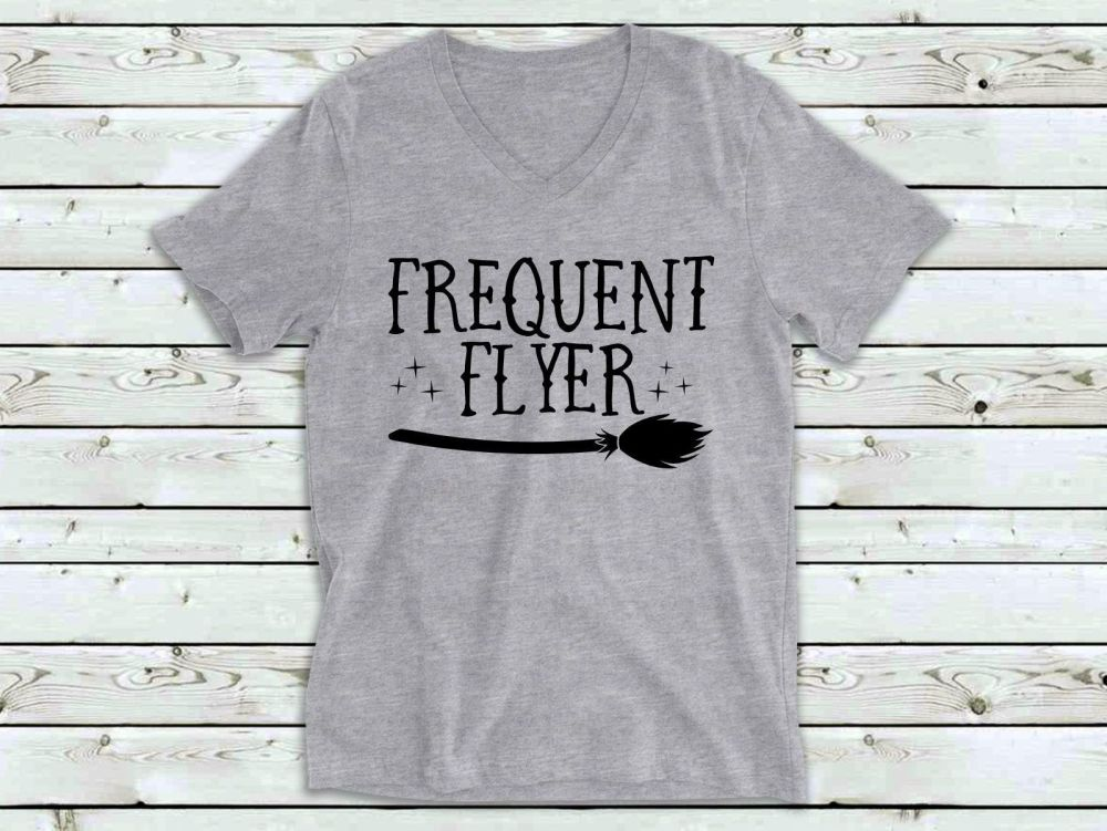 Ladies T Shirt - V Neck - Frequent Flyer