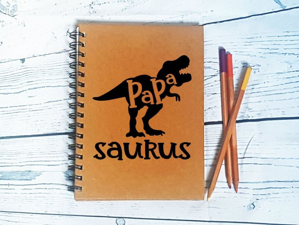 Personalised Notebook - Papa Saurus