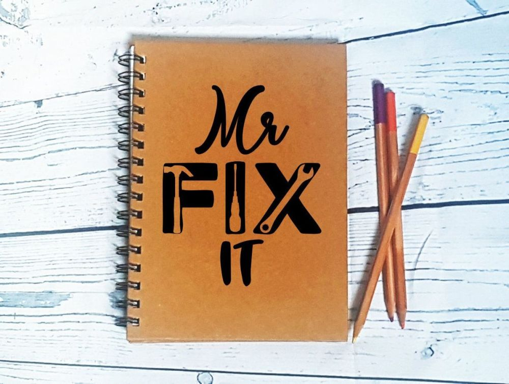 Personalised Notebook - Mr Fix It