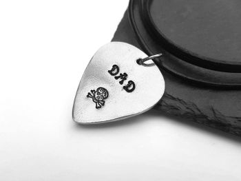 Necklace - Pewter - DAD - Guitar Pick