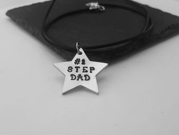 Necklace - Pewter - STEP DAD - Star Shape