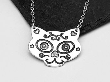 Necklace - Pewter - Sugar Cat Necklace - CATO