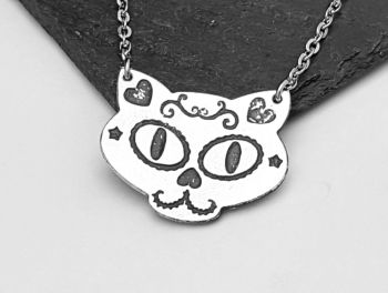 Necklace - Pewter - Sugar Cat Necklace - SERIN