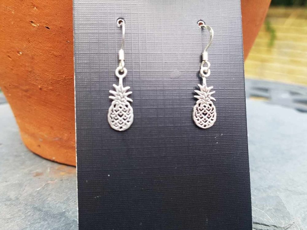 Earrings - Sterling Silver - Pineapple Earrings