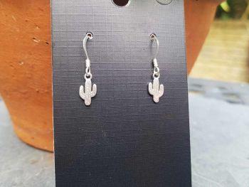 Earrings - Sterling Silver - Tiny Cactus Earrings