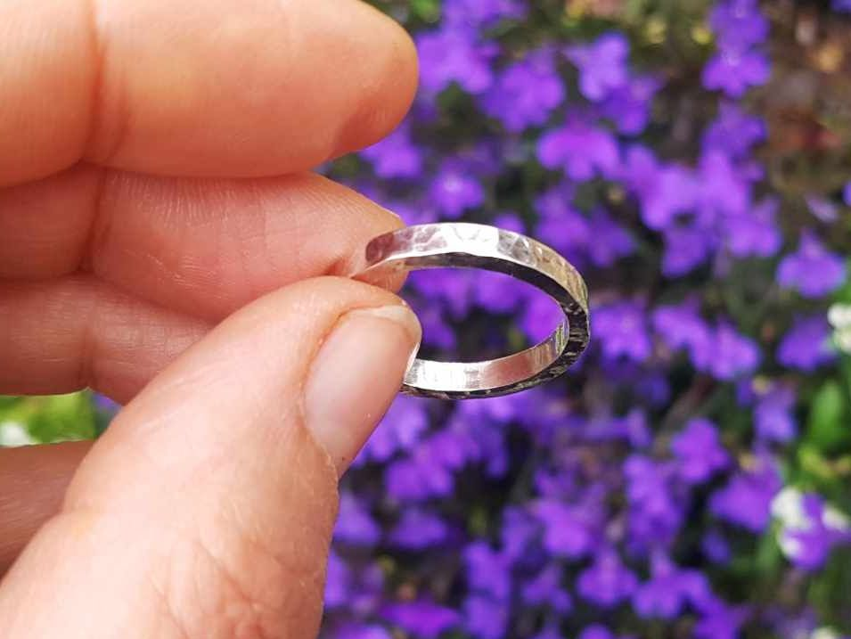 Ring - Sterling Silver - Chunky 4mm Wide Band - Size R