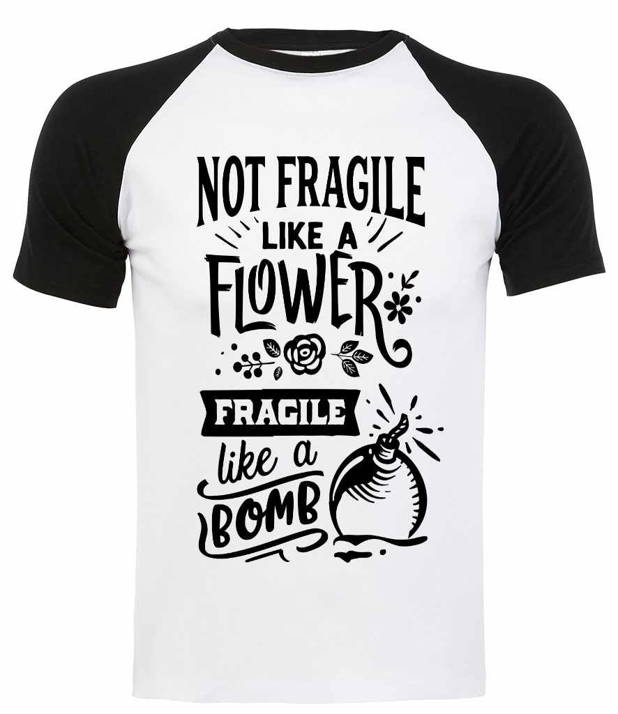 Unisex Fit Contrast T Shirt - Fragile Like a Bomb