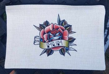 Ladies Cosmetic Bag - Mum Tattoo Rose