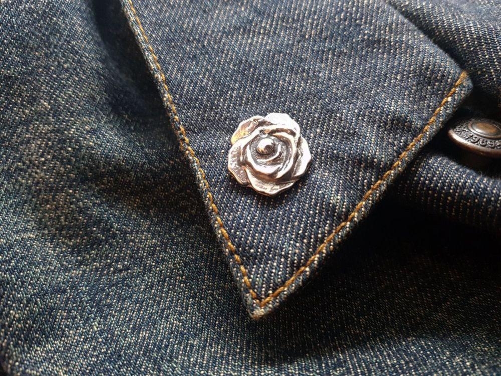 Lapel Pin - Pewter Pin Badge - Rose