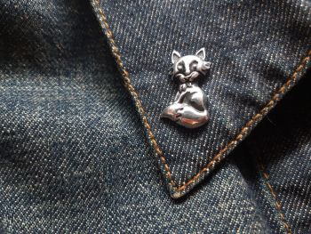 Lapel Pin - Pewter Pin Badge - Foxy Lady