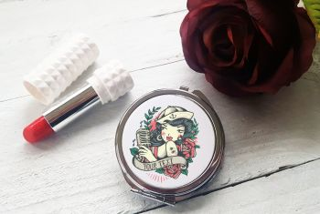 Compact Mirror - PERSONALISED Sailor Girl