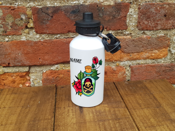 Water/Sports Bottle - Potion Bottle with Roses Design