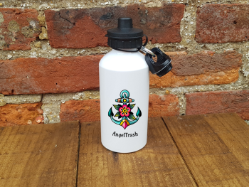 Water/Sports Bottle - Tattoo Style Anchor - Personalised