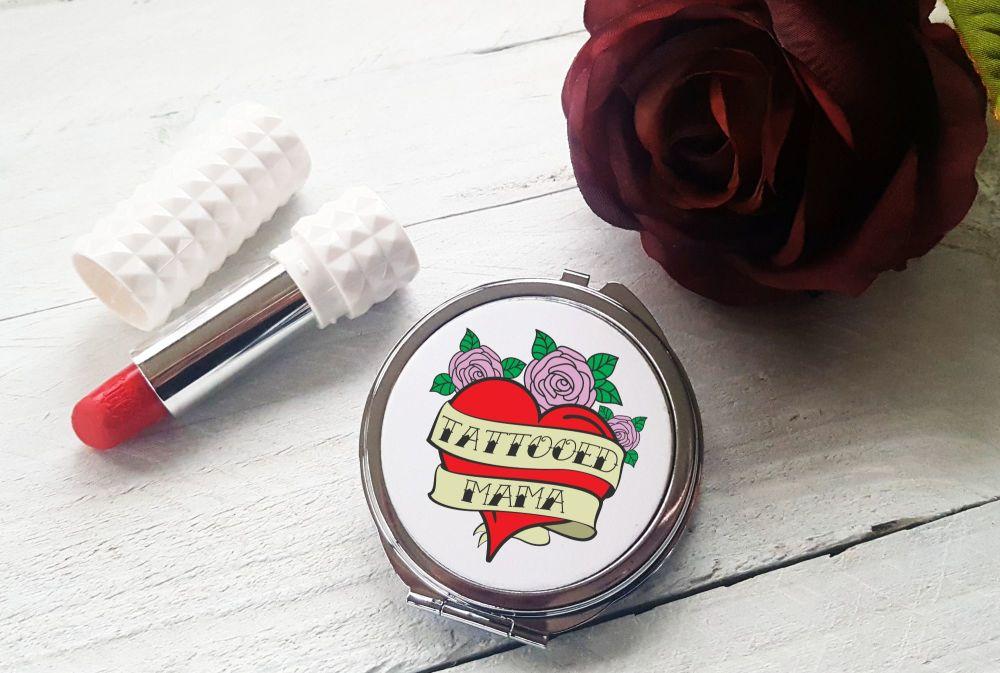 Compact Mirror - Tattooed Mama
