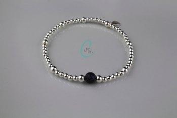 Silver and Blue Goldstone Bracelet