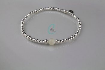 Silver and Mother of Pearl Bracelet