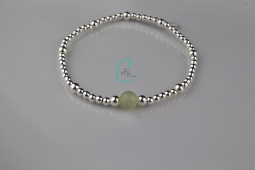 Silver and New Jade Bracelet