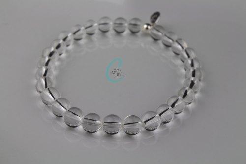 Chunky Rock Crystal stretch bracelet   Chunky Rock Crystal Bracelet   CeFfi