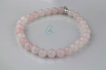 Chunky Rose Quartz Bracelet