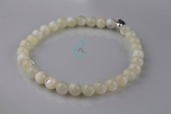 Chunky Mother Of Pearl Bracelet