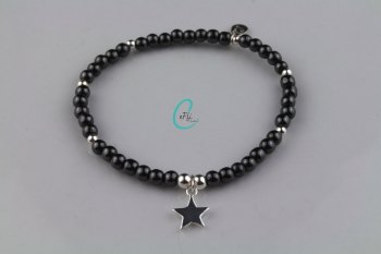 Hematite and Silver Bracelet