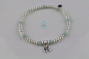 Silver and Amazonite Bracelet