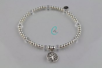 Silver and Rock Crystal Bracelet