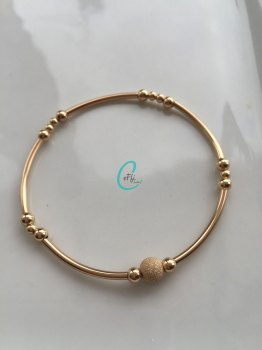Gold Noodle Bracelet