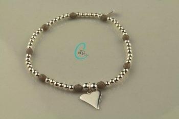Silver and Grey Bracelet