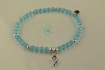 Aqua and Silver Bracelet