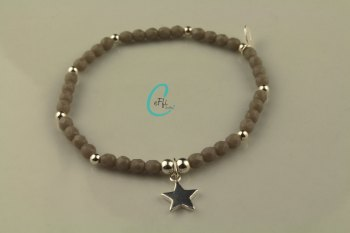 Grey and Silver Bracelet