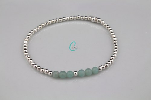 Amazonite and silver stretch bracelet | Amazonite Colour Pop | CeFfi