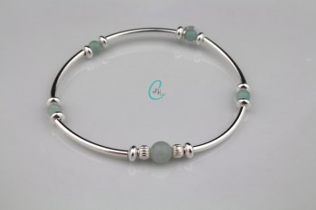 Colour Pop Noodle Bracelet - Amazonite