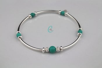 Colour Pop Noodle Bracelet - Turquoise