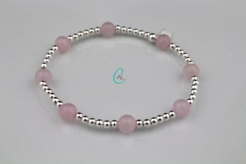 Chunky Colour Pop Bracelet - Rose Quartz